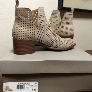 Franco Sarto Richland 3 Side Slit Ankle Boots NIB